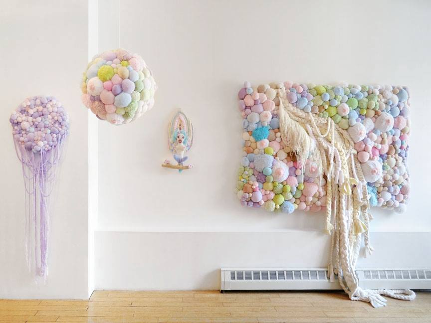 Soft sculptures by Jaz Harold
