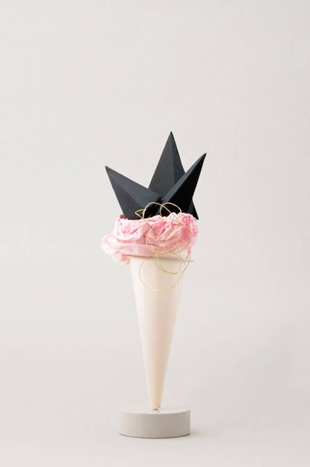 Paper ice cream sculptures by Studio Fludd