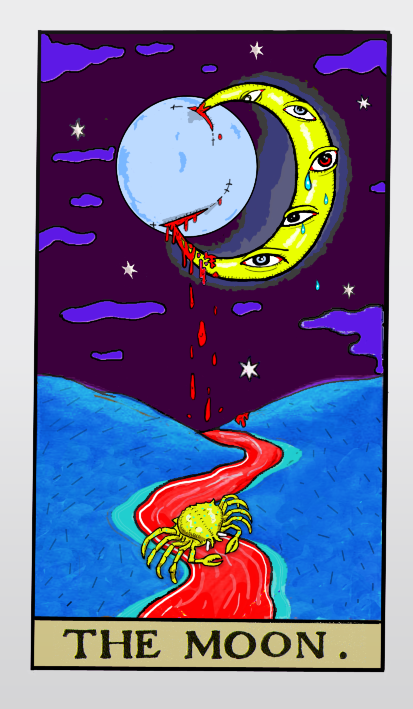 John Clowder's tarot project: The Moon