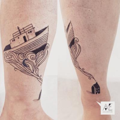 Axel Ejsmont's minimalistic tattoo art
