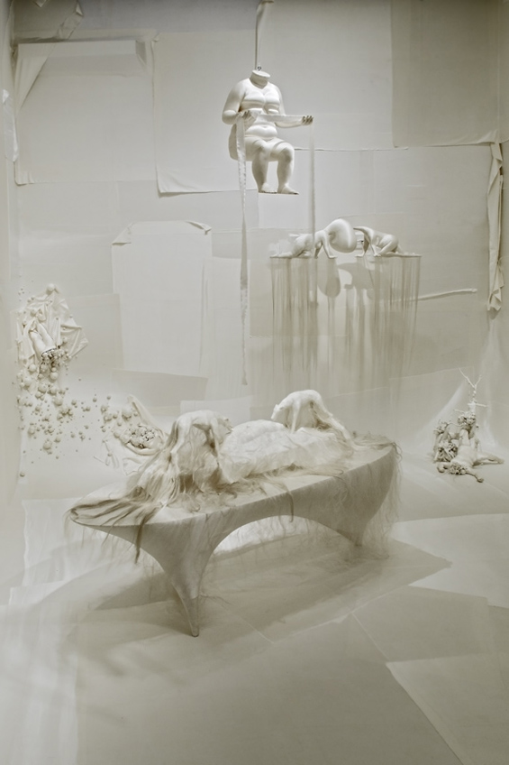 Lin Tianmiao's sculptures made of silk