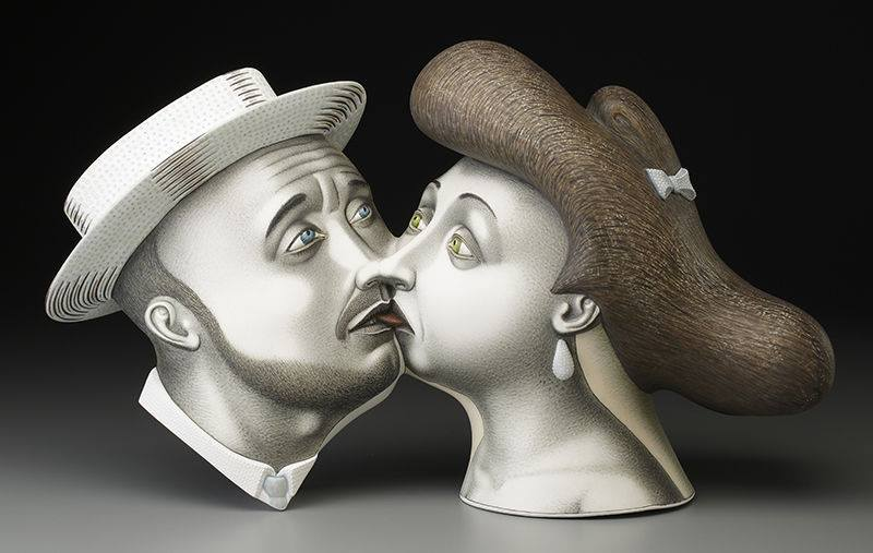 Ceramic sculptures by Sergei Isupov